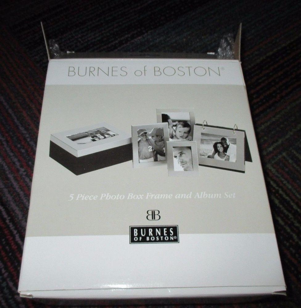 NEW 3-PIECE BURNES OF BOSTON PICTURE FRAME FLIP ALBUM & PICTURE BOX ...
