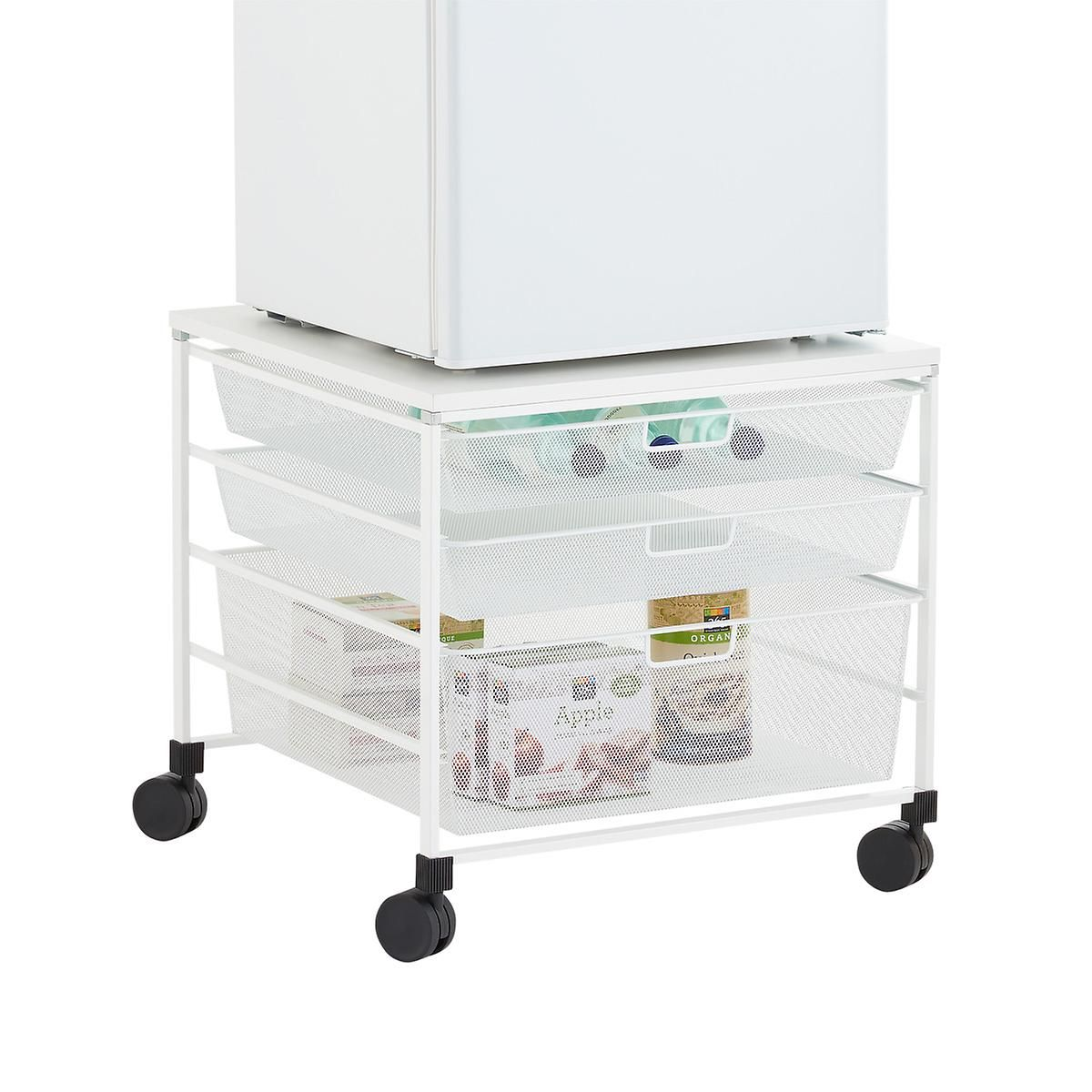 Great Mini Fridge Storage Cart #14 - White Mini Fridge Cart