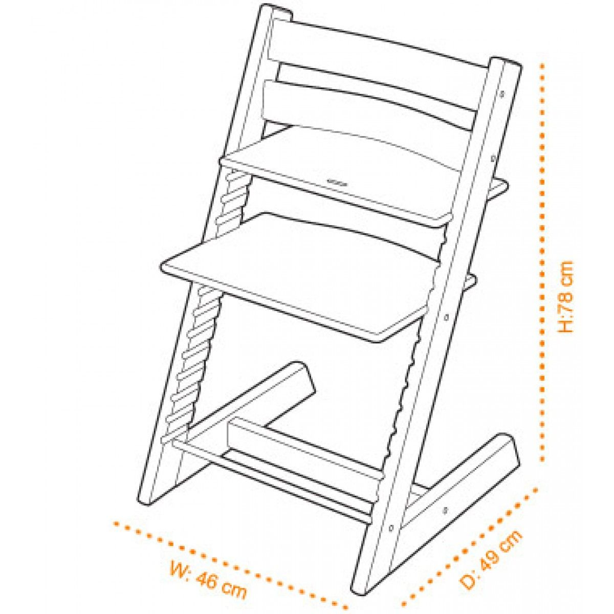 Stokke tripp trapp high chair baby enroute rzeczy do for Chaise tripp trapp