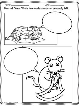 graphic relating to The Lion and the Mouse Story Printable named Fables-The Lion and the Mouse Worksheets 1st-2nd Quality