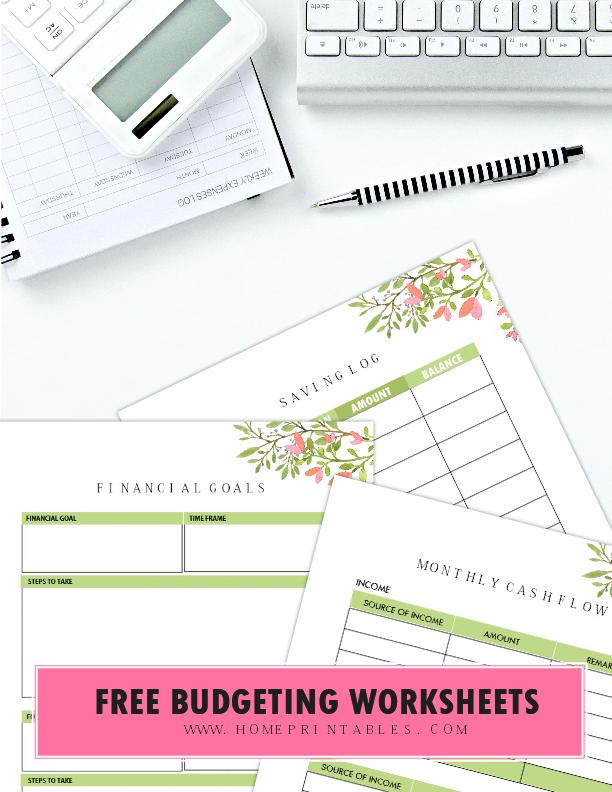 free printable budget worksheets | Adulting | Pinterest