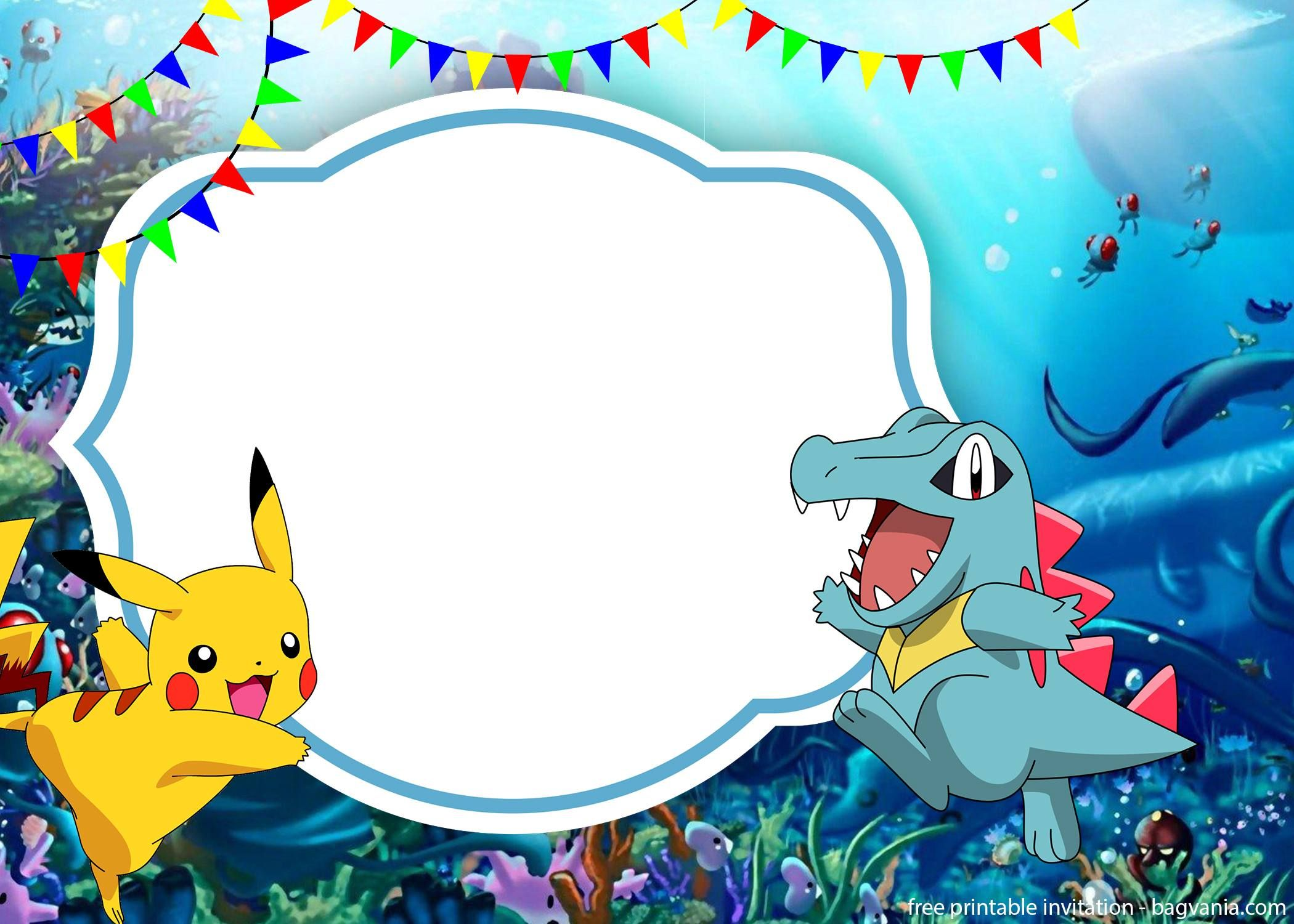 image about Free Printable Pokemon Invitations titled Pokemon Invites In the direction of Print - Letter.BestKitchenView.CO