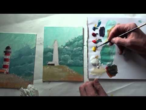 10 Minuten Malerei Leuchtturm Vor Sturmhimmel Youtube