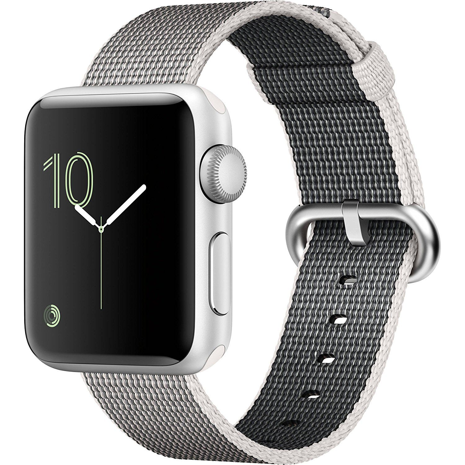 the latest d5b1f 26efd Amazon.com: Apple Watch Series 2, 38mm Silver Aluminum Case with ...