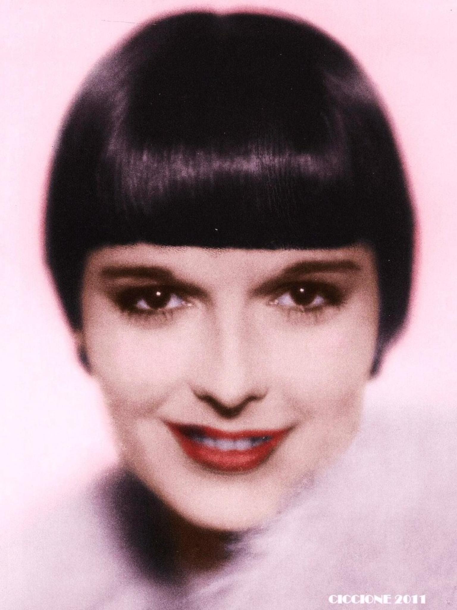 Louise Brooks colorized 1920 s photo