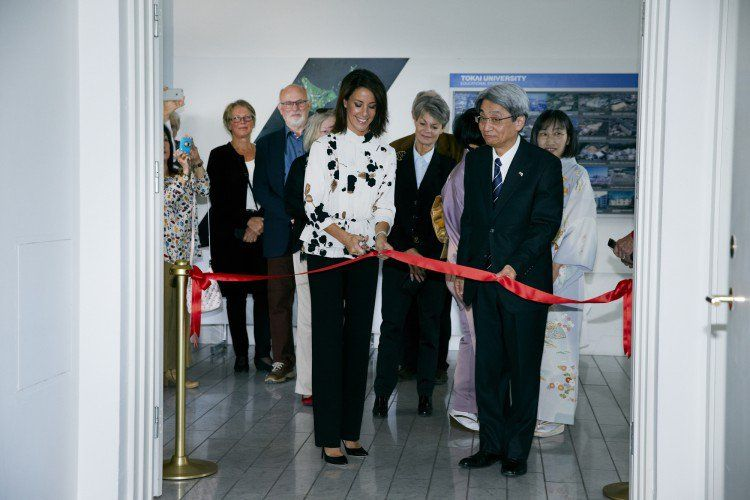 Princess Marie was there to open the Ikebana International Copenhagen Chapter's exhibition.