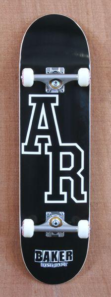 """Baker Reynolds Logo Black 8.25"""" Skateboard Complete"""