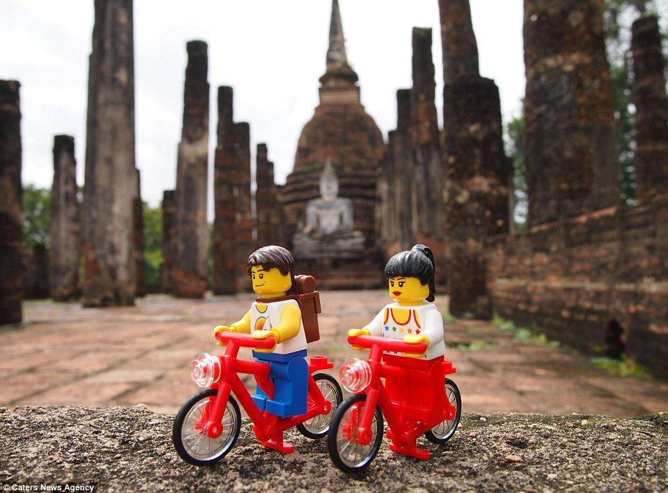 Plastic fantastic The LEGO couple who've travelled all