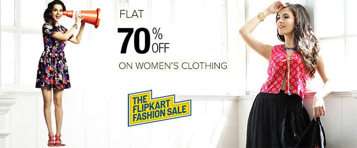 Guys Hurry (Of Course Girls double hurry!) Get Flat 70% Discount on Whole  Collection of Women Clothing at Flipkart (DOD)  Flipkart  DOD   DealOftheDay ... 86adc5b27