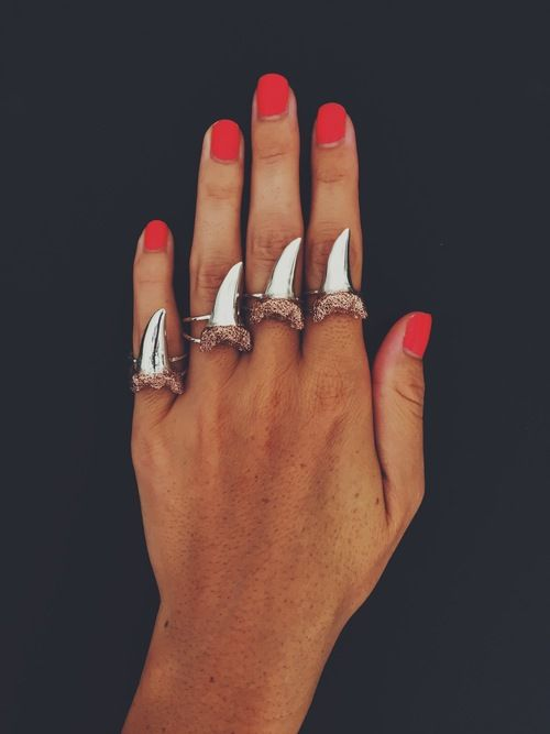 Shark Tooth Ring By Rising Blue Nail Art Shoes Jewelry
