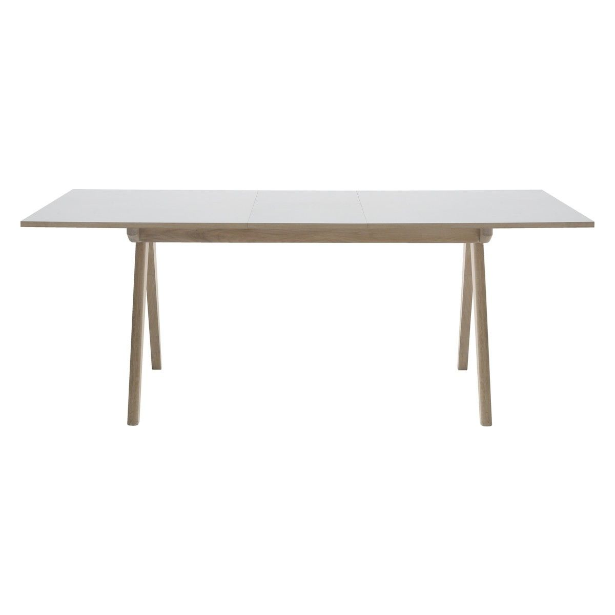 JERRY 4 10 seat white extending dining table
