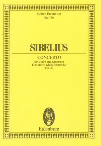Sibelius Concerto For Violin And Orchestra In D Minor Op47 Study