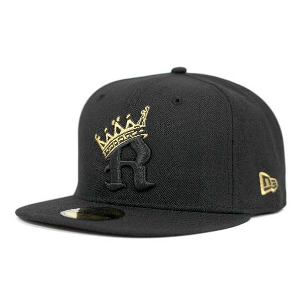 5c5a04e1 Black Gold R Crown 59Fifty Fitted Cap by LOWERS x NEW ERA ❤ liked ...