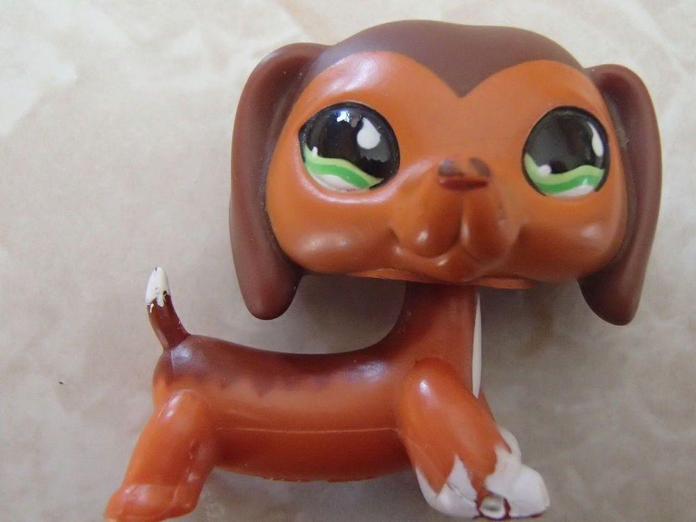 Littlest Pet Shop ULTRA RAREST Dachshund Dog Puppy 675 Caramel ORIGINAL LPS