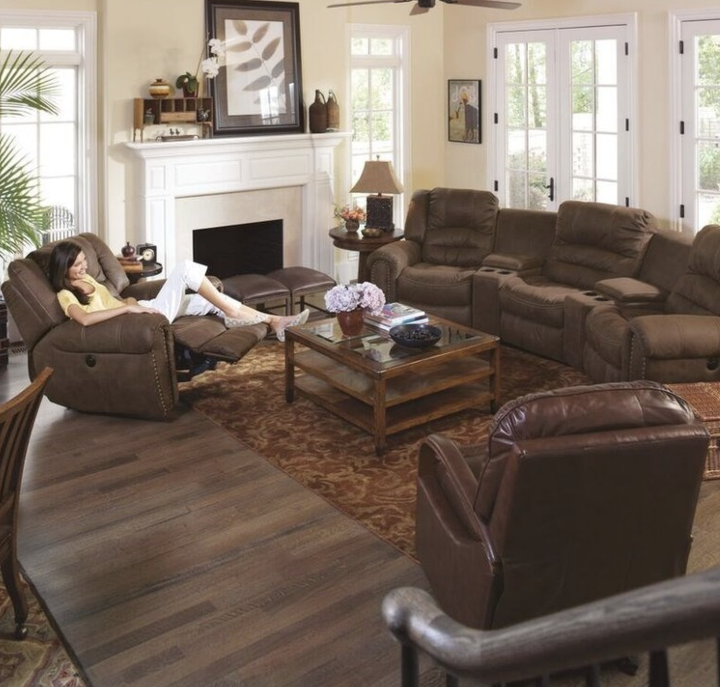 For more spacious rooms spread out your furniture to avoid large