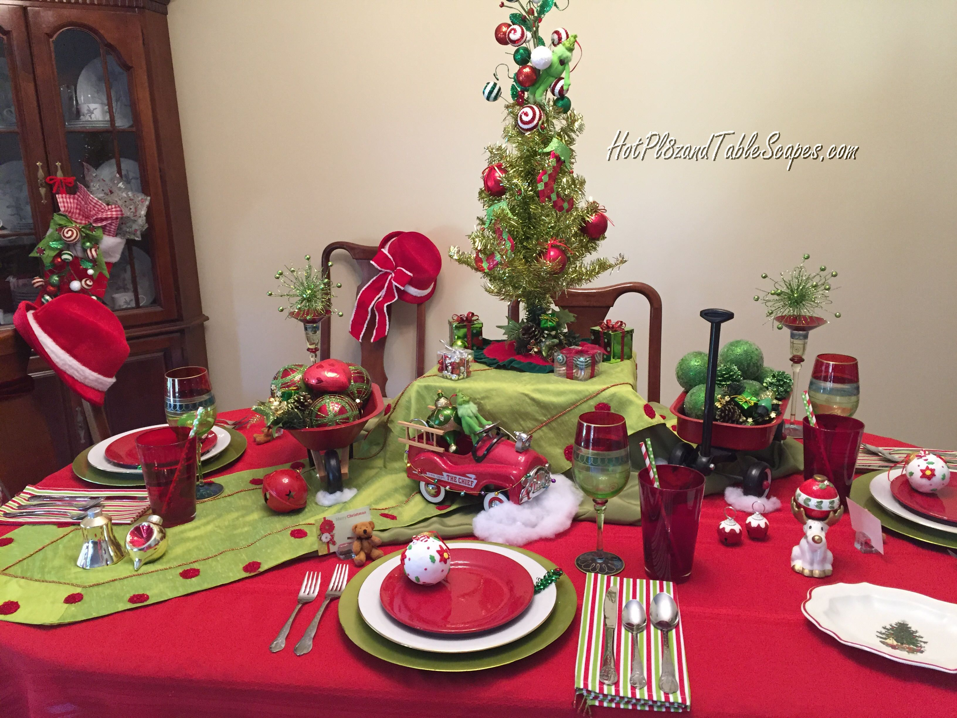 1a Grinch Tablescape by hotpl8zandtablescapes adorable