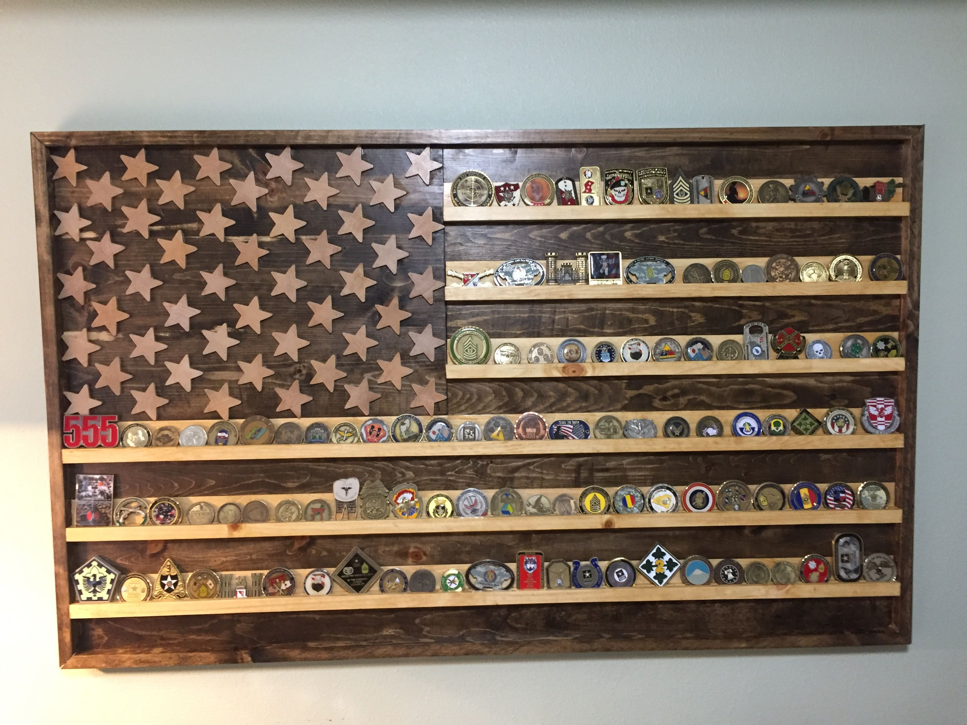 Diy Wooden Flag Coin Holder 30quot X 50quot Home Art In 2018