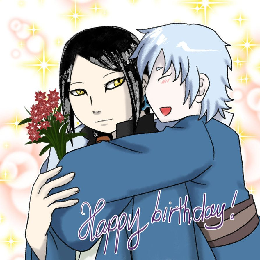 Today(27/10) is Orochimaru's birthday. He's having a good time with his son.