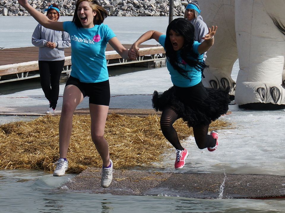 Bravery. Polar Plunge 2014. Read about it: http://www.bullfrogspas ...