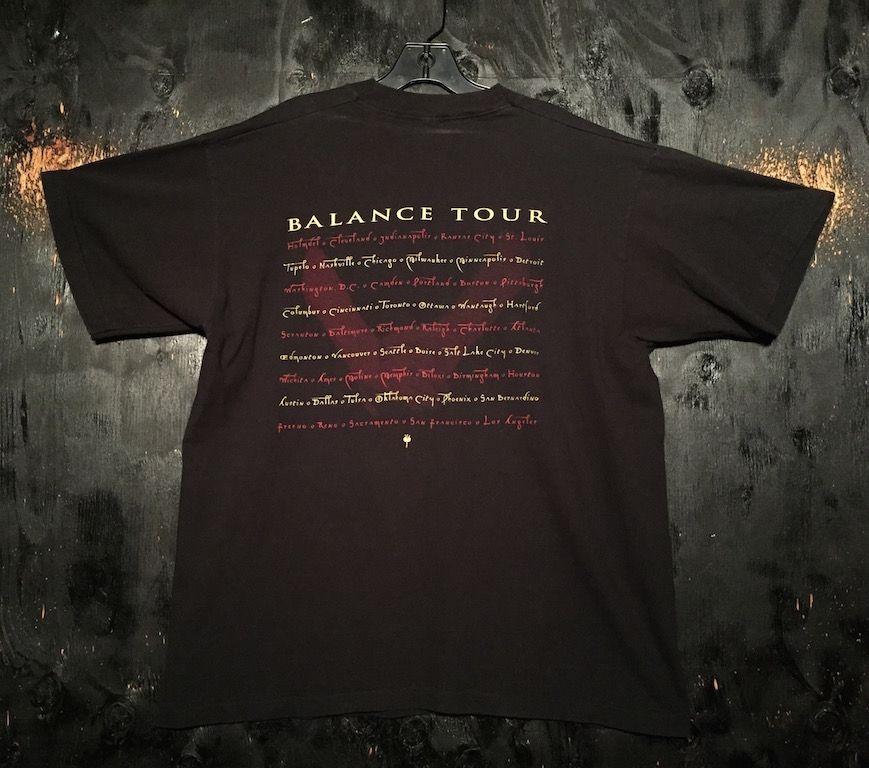 1995 van halen balance oversized tour tee shirt