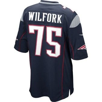 Official New England Patriots Proshop Nike Vince Wilfork 75 Game Jersey Navy New England Patriots Game New England Patriots Jersey Patriots