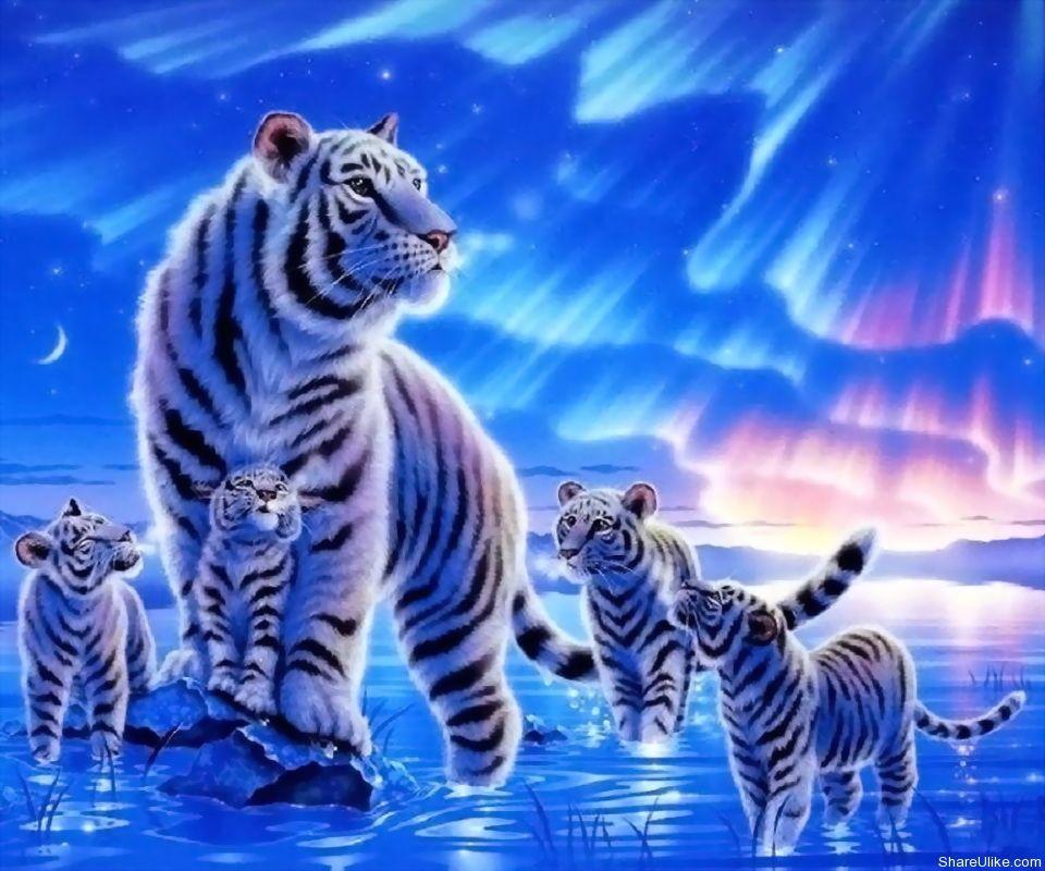 Digital art by kagaya Tiger wallpaper, Cross paintings