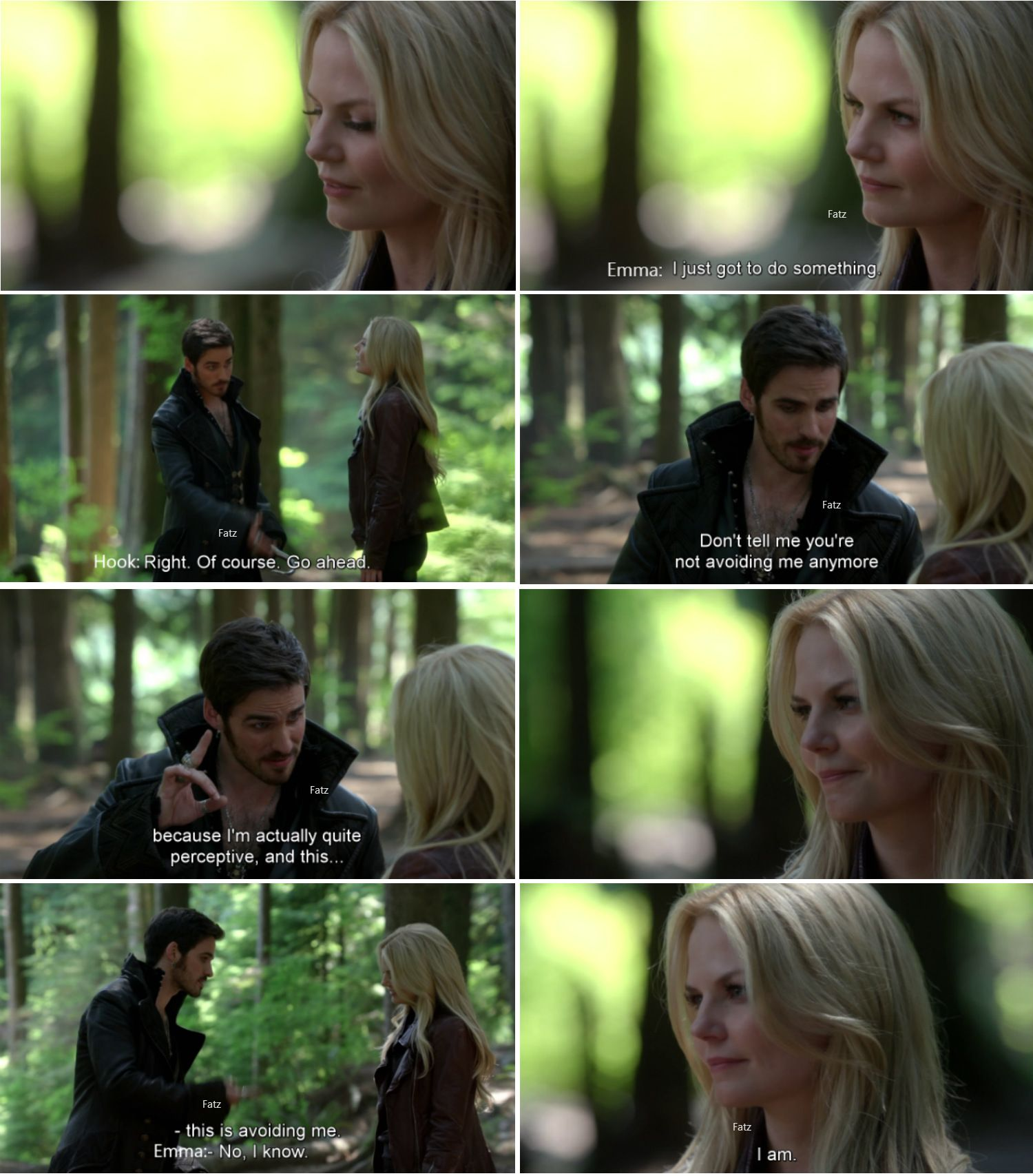 """Don't tell me u'r not avoiding me."" - Hook and Emma - 4 * 1 ""The Tale of two sisters"" #CaptainSwan"