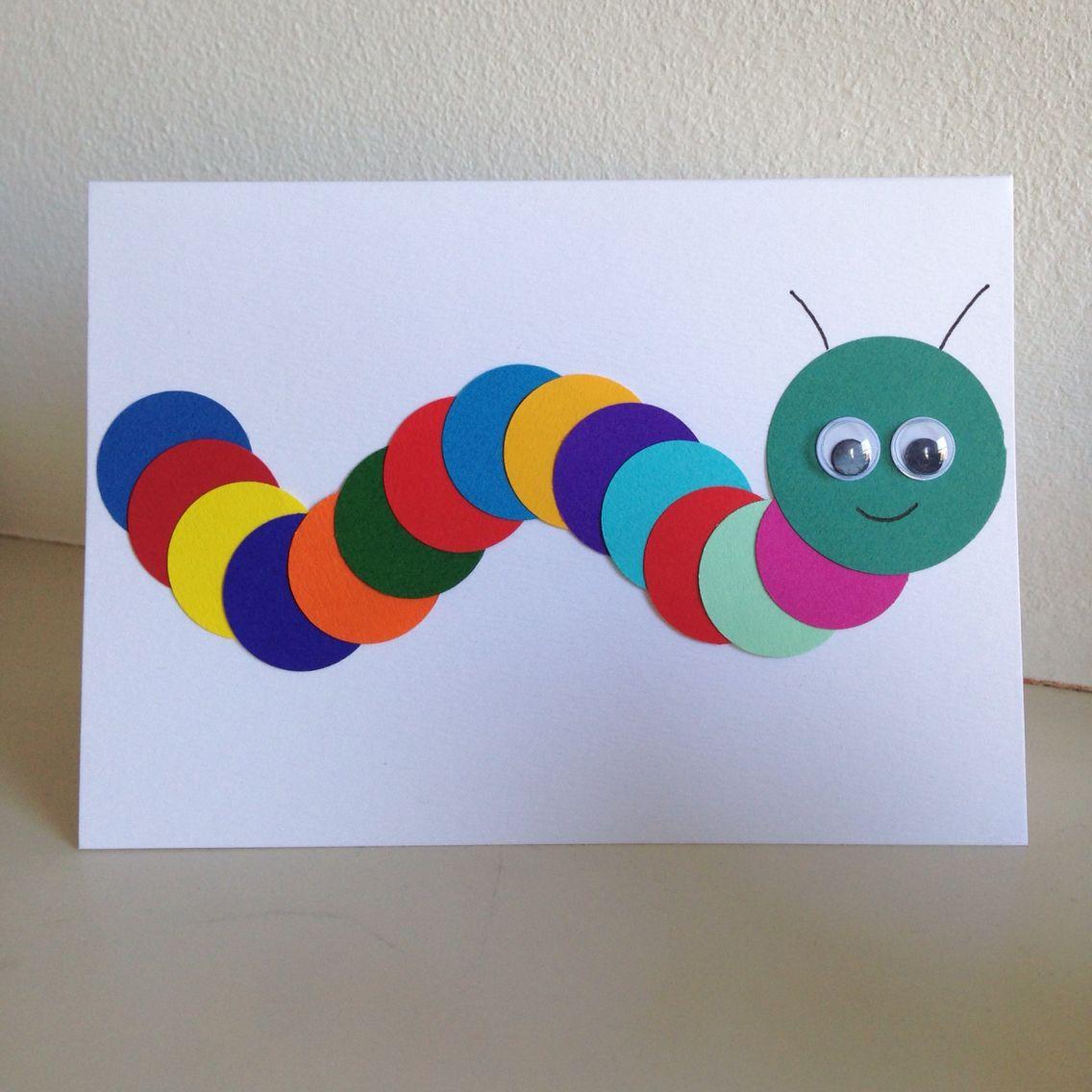 Hand Made Caterpillar Childrens Birthday Card Make Your Own