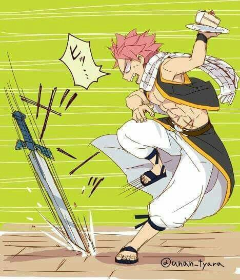 WHY DID HE GO AND TAKE ERZA'S CAKE! Bad mistake there Natsu