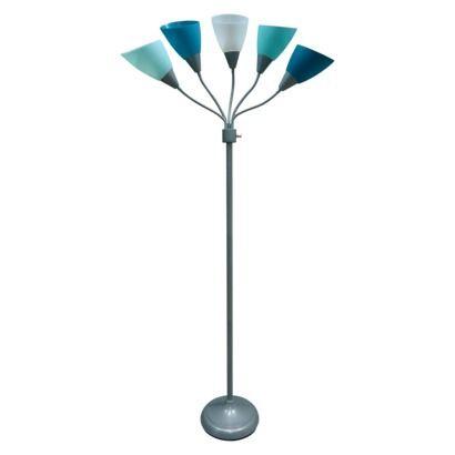 Room Essentials 5 Head Floor Lamp 19 99 Blue Floor Lamps