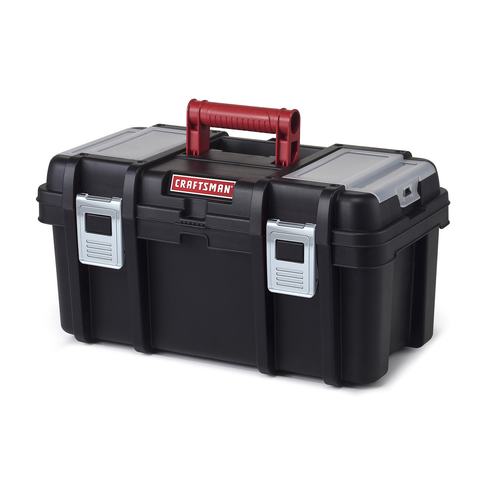Craftsman 16 Inch Tool Box with Tray Black/Red Tools