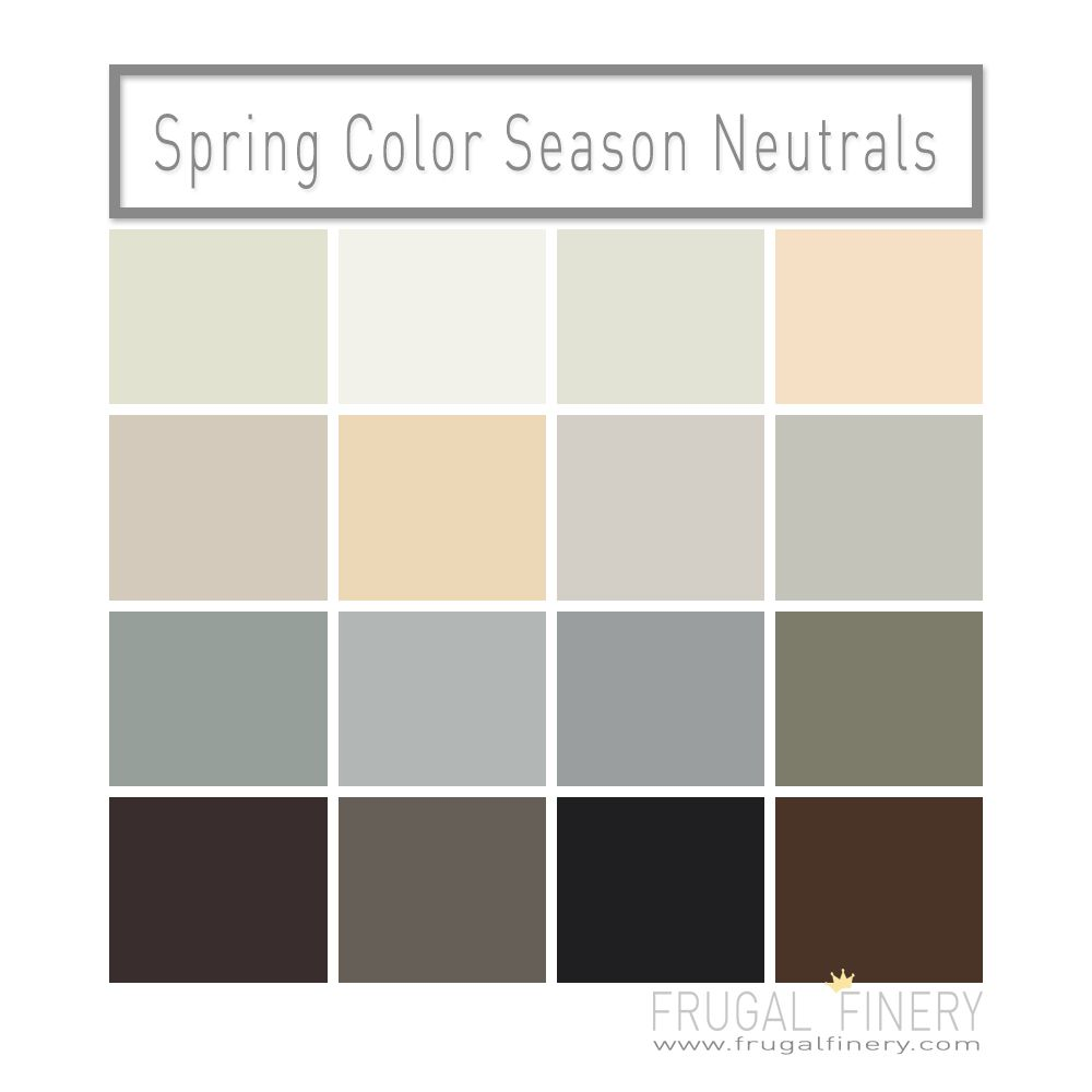 Neutral Colors For The Spring Color Season A Mix Of