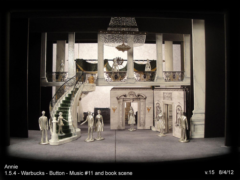 David Korins' Set Design Annie Broadway. Scaled