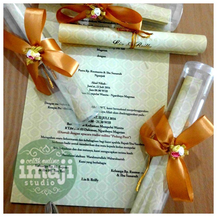 Contoh Undangan Pernikahan Model Gulung Undangan Gulung Info Wa
