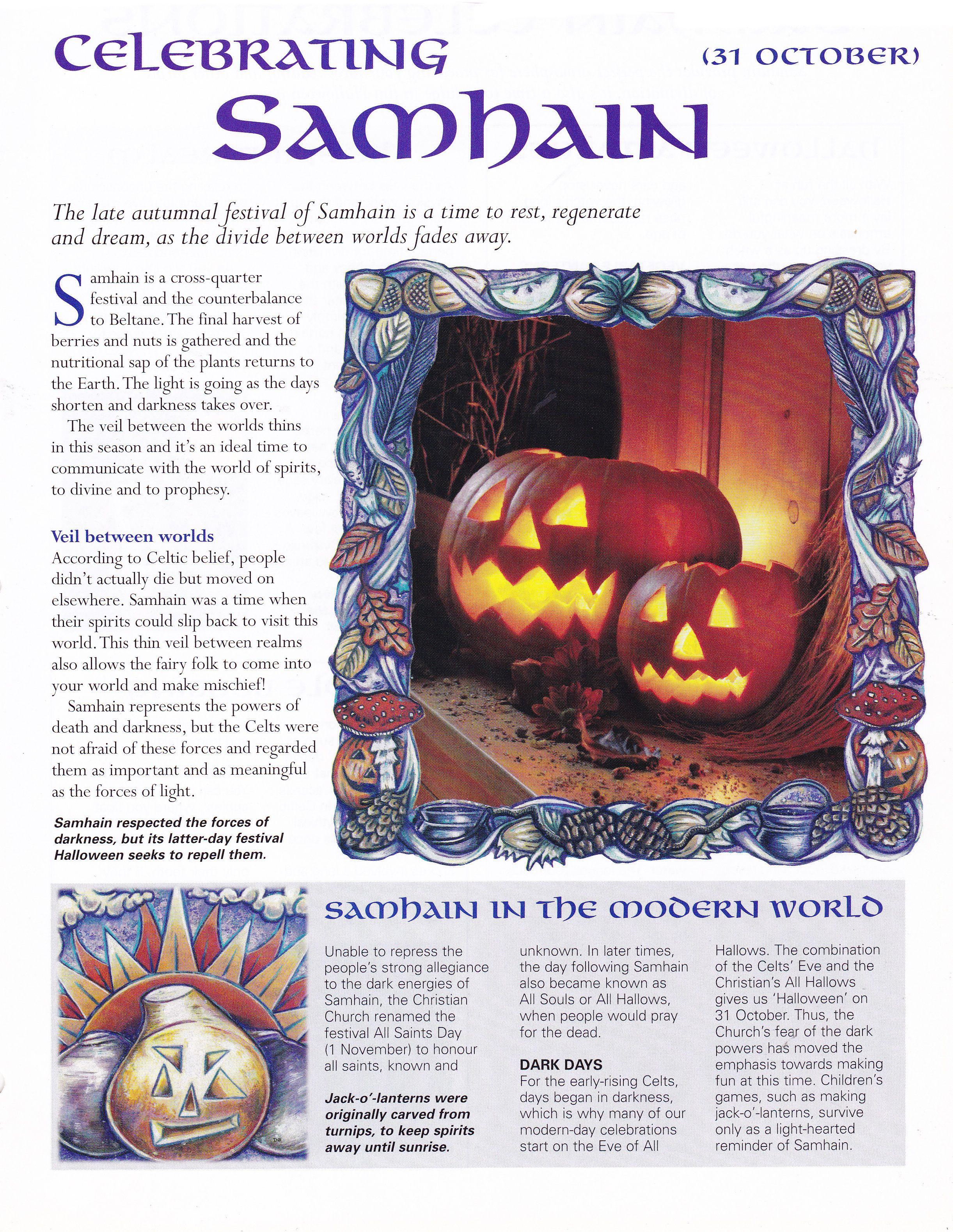 Halloween 1 November.Samhain Samhain Samhain Halloween Book Of Shadows