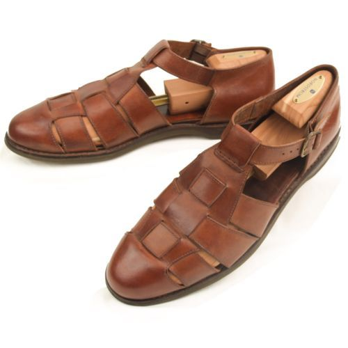 Cole Haan Fisherman Sandals 12 M Mens Woven Leather Buckle Shoes Brown  #MensShoes #SomeLikeItUsed