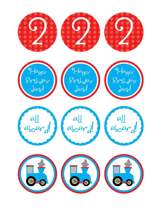 This is an image of Comprehensive Free Printable Thomas the Train Cup Cake Toppers
