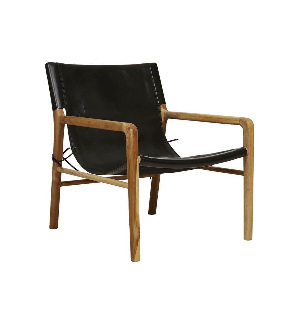 leather sling chairs ergonomic chair exercise ball teak black online pinterest