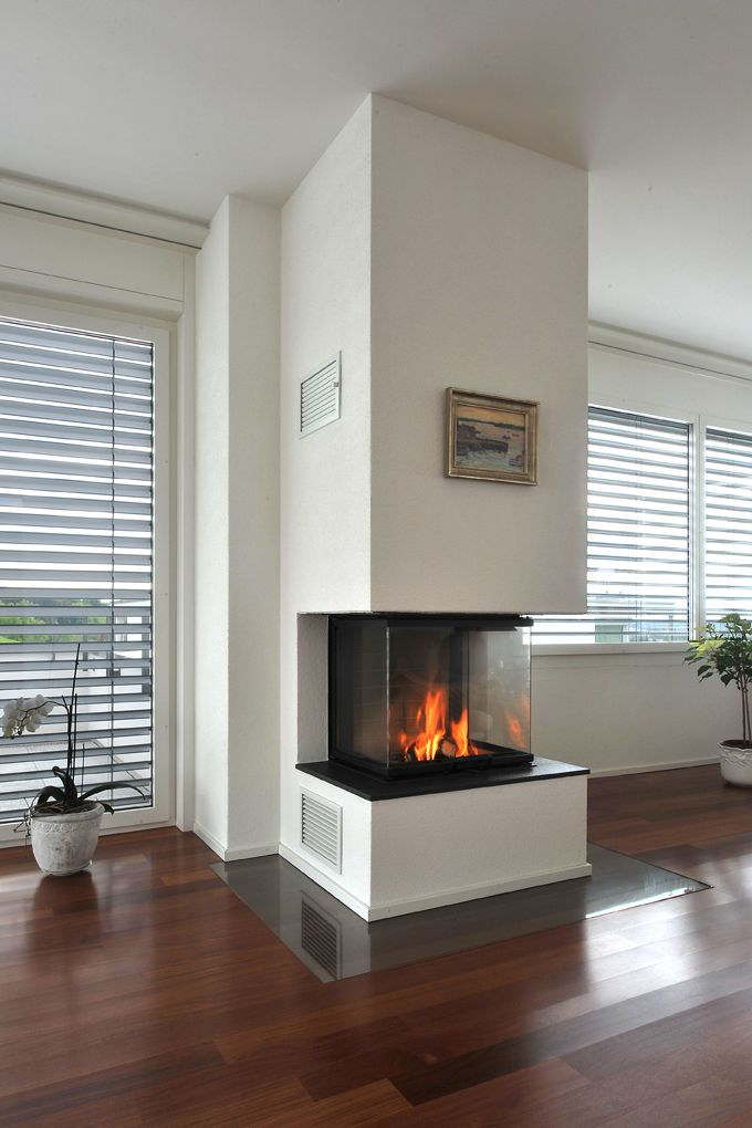 chemin e 3 seiten fireplace in the living room. Black Bedroom Furniture Sets. Home Design Ideas