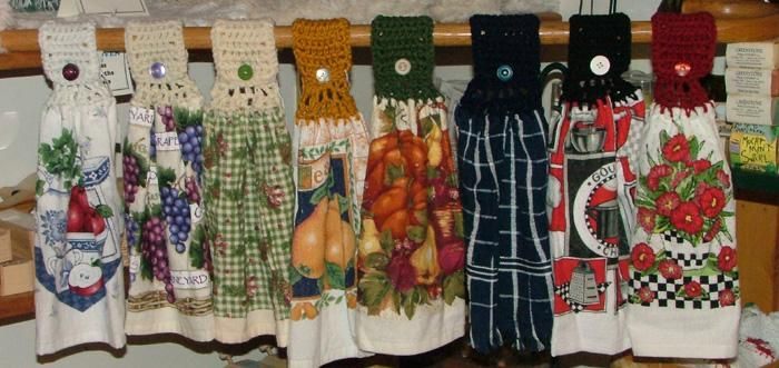 Free Crochet Towel Topper Patterns   Free Crochet Pattern - Dish ...