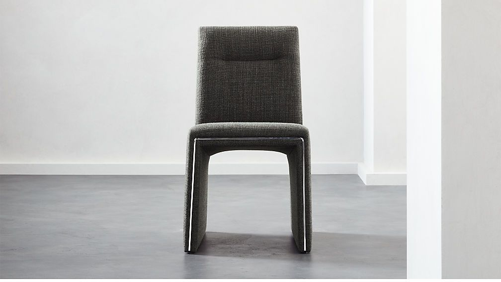Silver Lining Grey Armless Dining Chair Dining Chairs Upholstered Swivel Chairs Swivel Dining Chairs