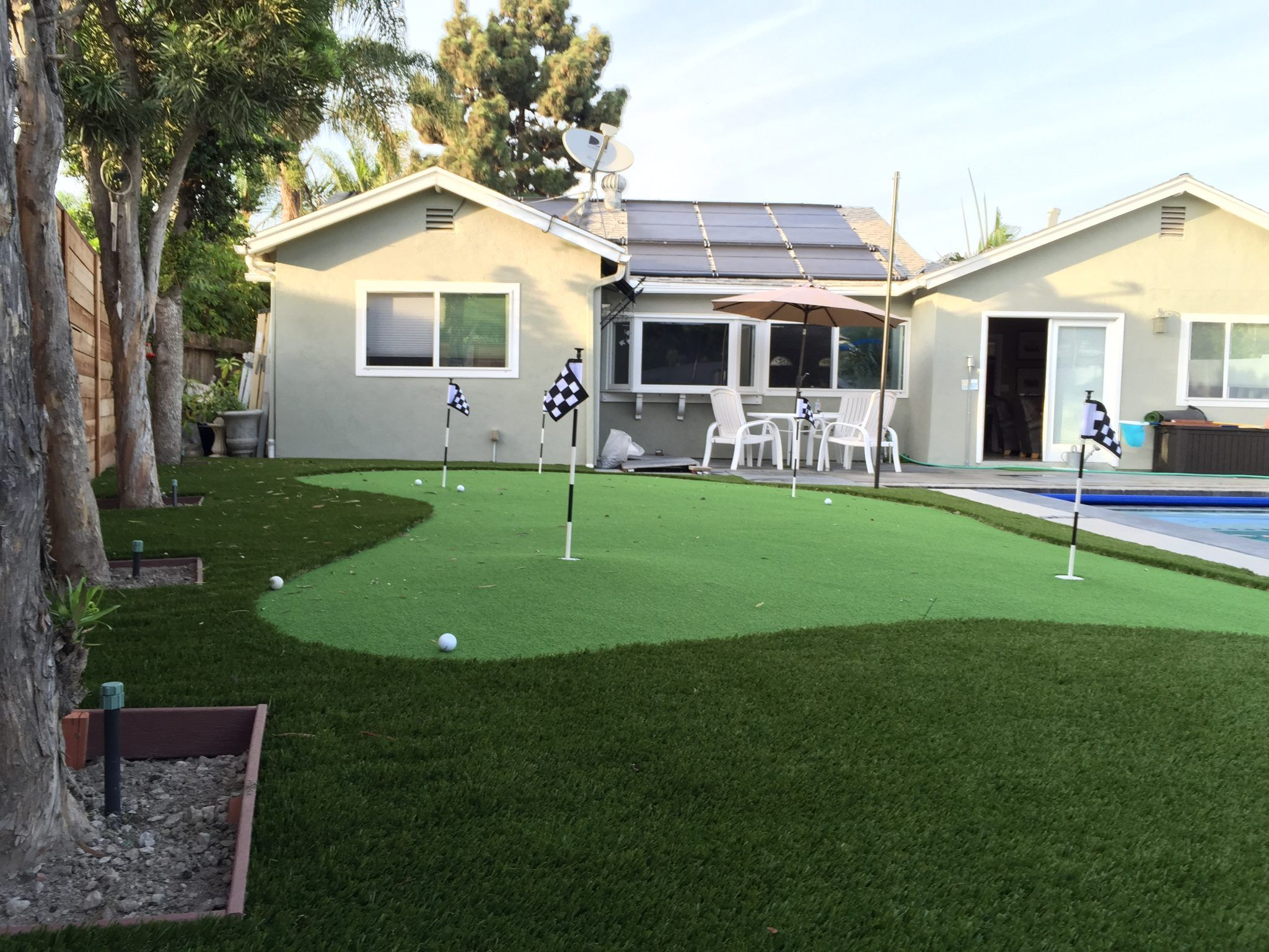 did you ever think about installing putting green golf turf in