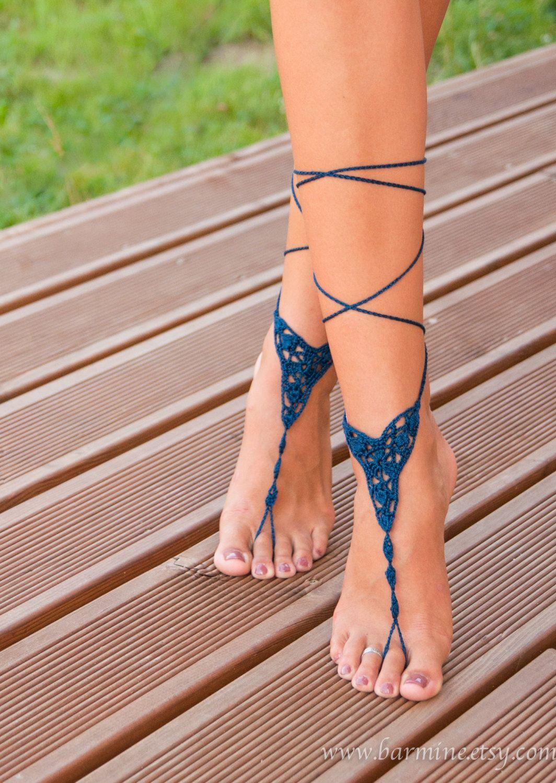 Pin op blote voeten sandalen haken