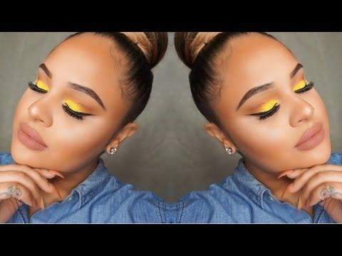 Spring Makeup Tutorial Yellow Neutral Look Youtube Spring