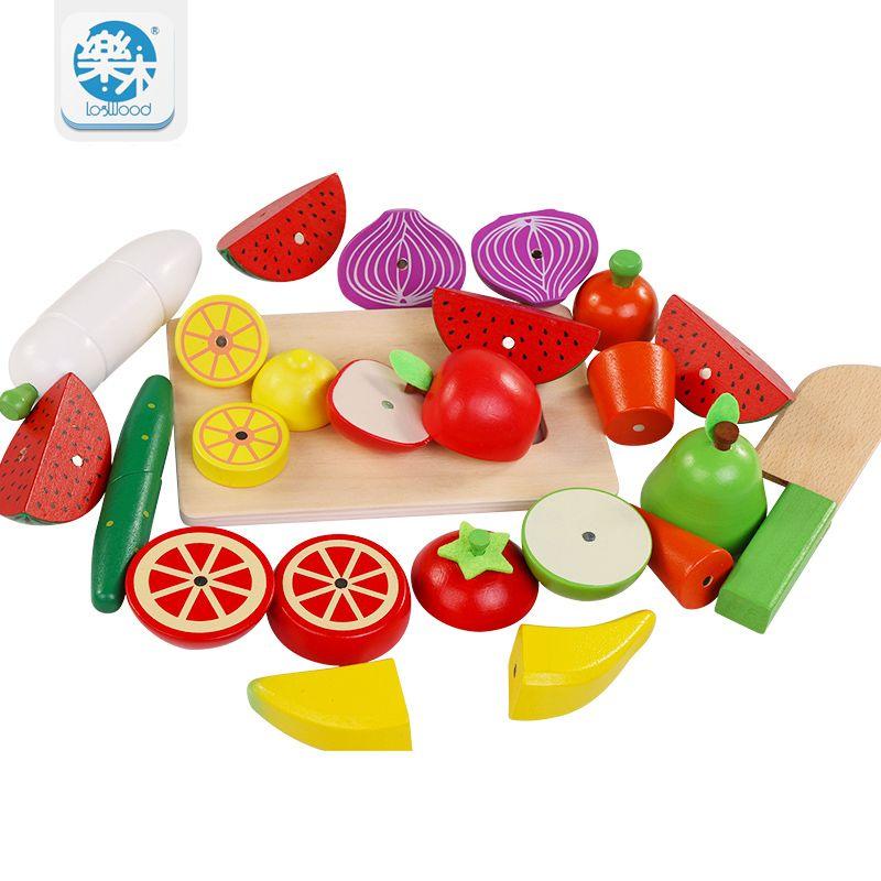 Holz Kinder Spielzeug Simulation Schneiden Von Obst Und Gemüse Küche  Spielzeug Für Kinder Montessori Bildung Holzspielzeug