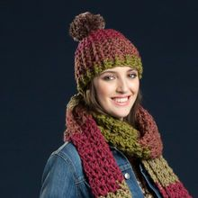 Caron® Tea Cakes™ Crochet Winter Hat in Spiced Cider