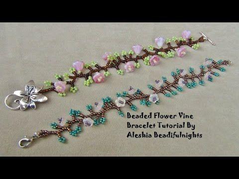 Beaded Flower Vine Bracelet Seed Bead Tutorials
