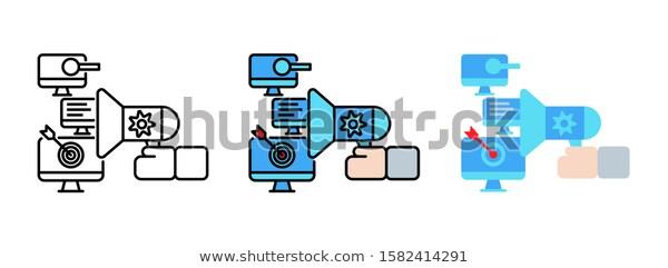 Business Strategy Digital Marketing Plan Icon Stock Vector Royalty Free 158241 Digital Marketing Plan Marketing Plan Example Marketing Plan Template Business