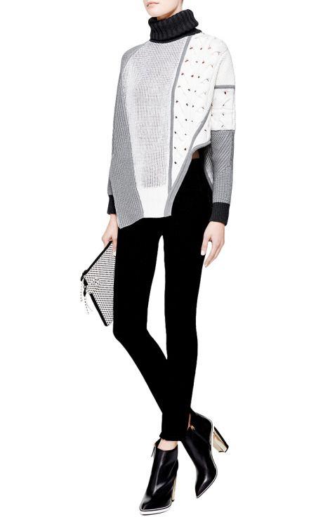 Asymmetric Intarsia-Knit Sweater by Prabal Gurung - Moda Operandi ...