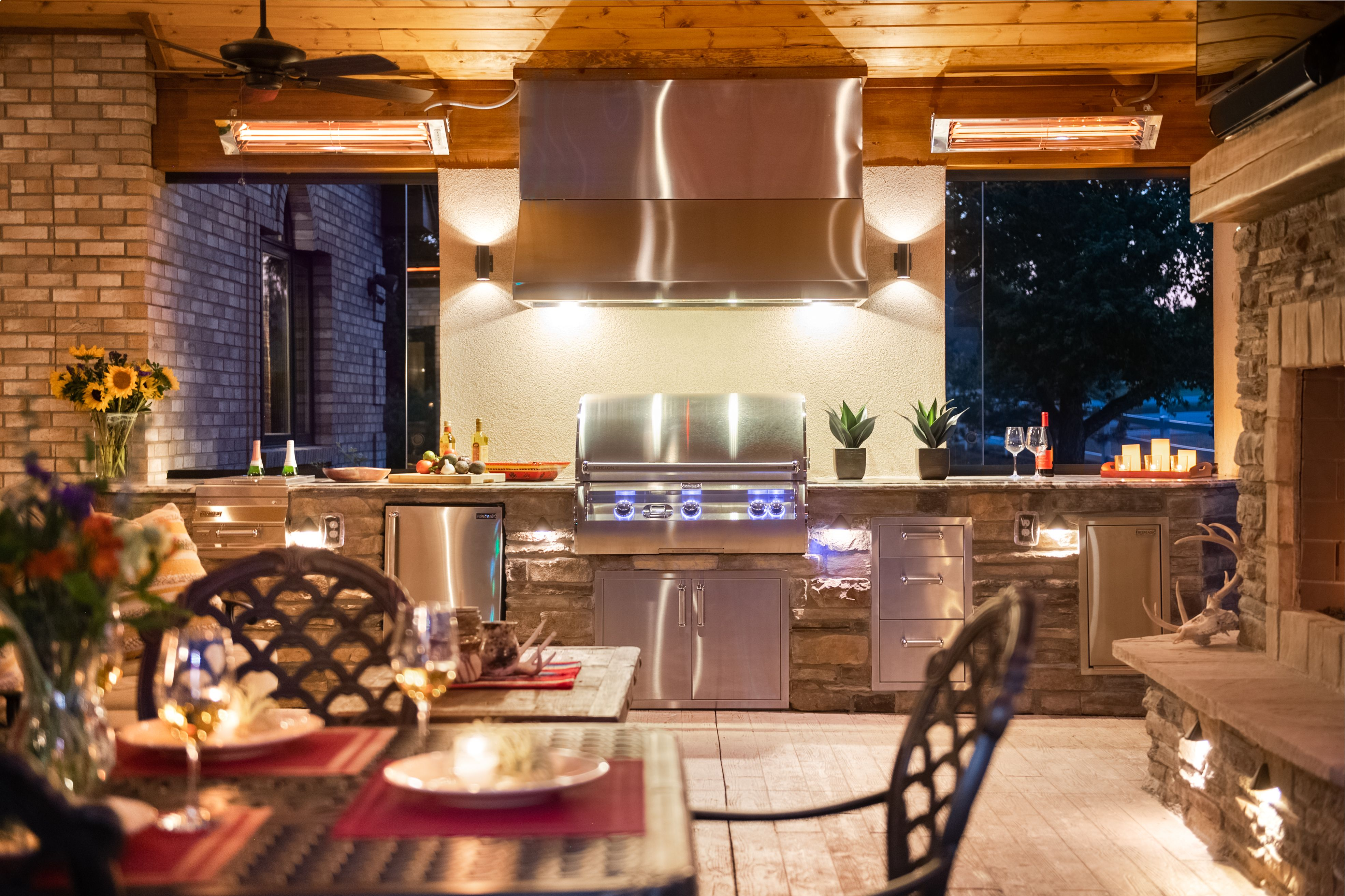 Outdoor Kitchen On Covered Patio Outdoor Kitchen Acme Brick Stone Houses